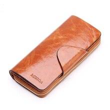 2016  Hot Sales First Layer Of Cowhide Female Wallets Zipper Genuine Leather Long Design Lovers Men/Women Wallets