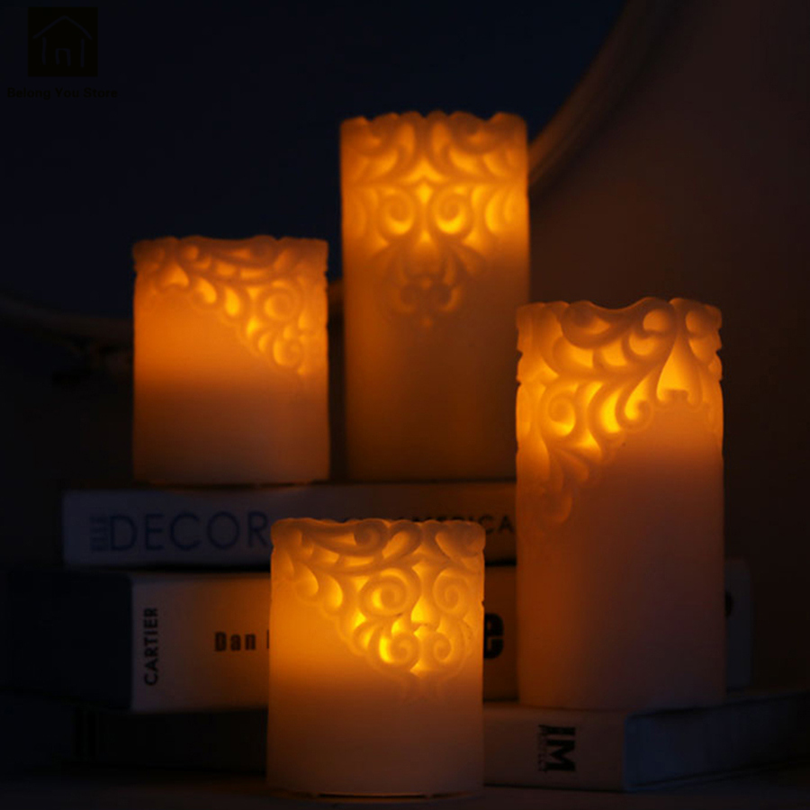 High Quality Flickering Flameless Candles Wedding Led Flame Candle Romantic Bougies Cire Candlestick Decoration Supplies QKK075