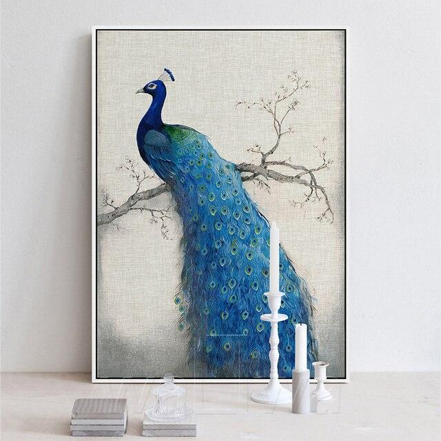 Leinwand kunst sch ne blaue pfau bilder malerei dekorative for Dekorative bilder wohnzimmer