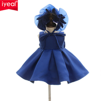 IYEAL Flower Toddler Baby Girl Infant Princess Dress With Hat Baby Girl Wedding Dress Kids Party Vestidos for 1 Years birthday