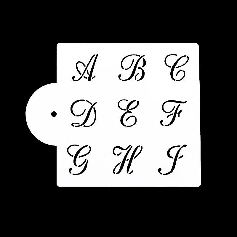 3 pieces 26 English Alphabet Script set cookie/cake ...