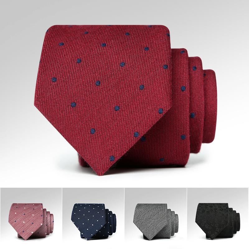 2019 NEW Ties for Men Top Quality Brand 7cm Tie Luxury Formal Tuxedo Necktie Natural Wool Autumn Winter Fashion Style Gift Box