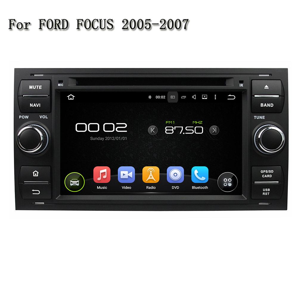 7 2 Din Quad Core Android 5.1.1 Car DVD Player GPS Navi For Ford FOCUS/Mondeo/S-MAX/C-MAX /Galaxy/Fiesta Form/Fusion/Connect