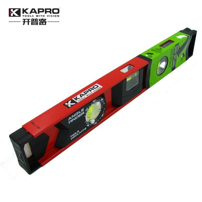 KAPRO High Precision 360 Degree Rotating Aluminum Alloy Bubble Level Ruler 40cm 60cm