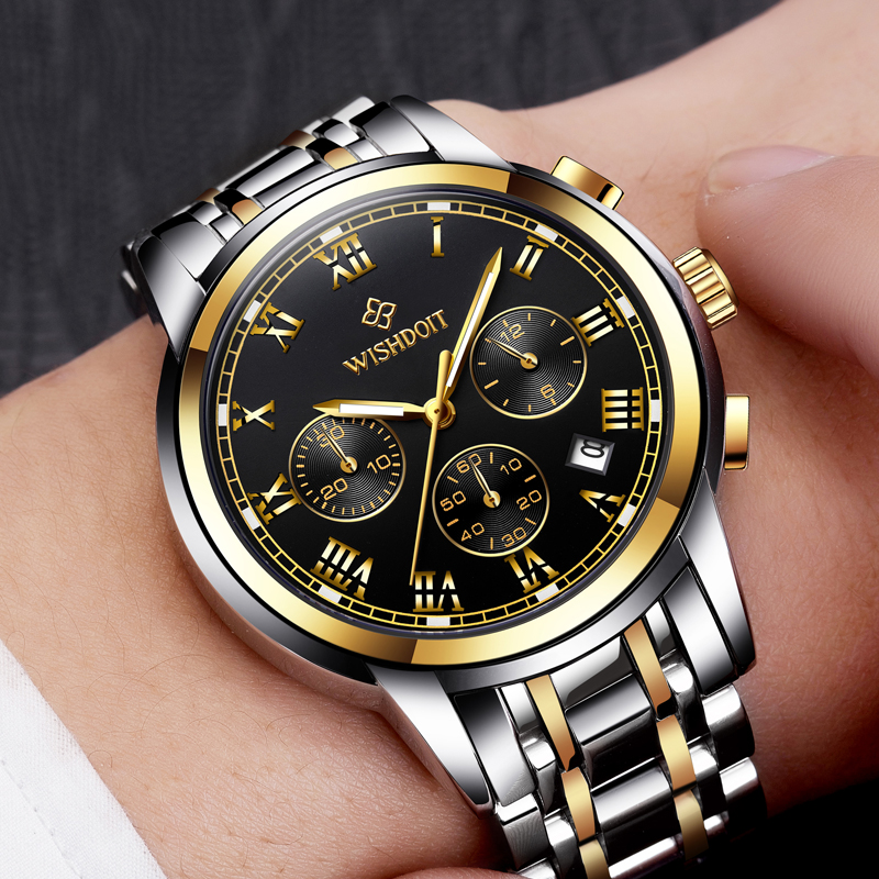 WISHDOIT Mens Watchs Business Sport Fashion Casual Waterproof Men Quartz Watch Military Male Clock reloj hombre Top Luxury Brand luxury oil wax genuine cow leather women backpack small women s travel bags multifunction korean fashion women shoulder bags