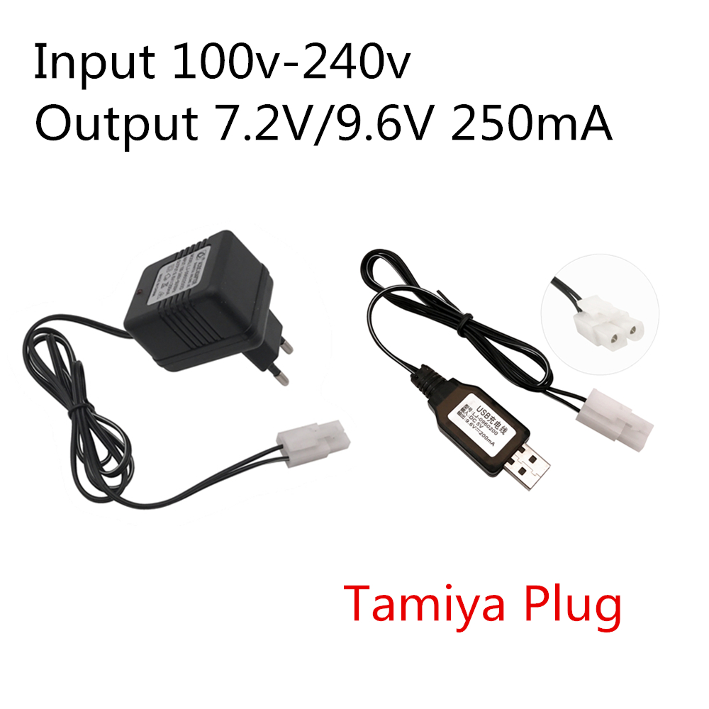Chargers 7.2v 250 Ma Charger Fpr Nicd And Nimh Battery Pack Charger For Toy Rc Car Ac 110v-240v Dc 7.2v 250ma Sm Black Plug Consumer Electronics