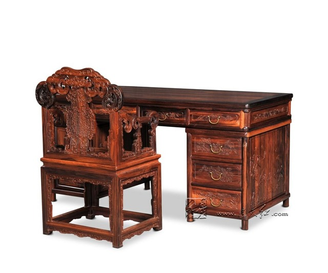 1.8m Executive Writing Desks Rosewood Office Living Room Furniture Antique  Computer Tables Solid Wood Book - 1.8m Executive Writing Desks Rosewood Office Living Room Furniture