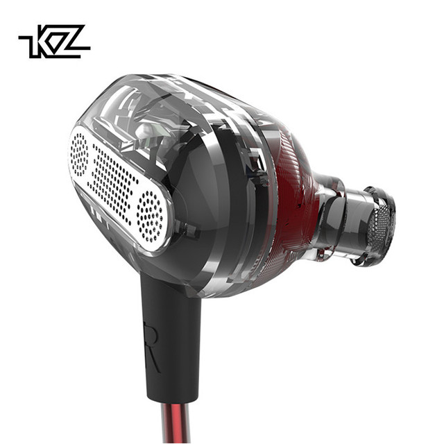 KZ ZSE EDR1 No Mic Dynamic Dual Driver Earphone In Ear Headset Audio Monitor Headphone Noise Isolating HiFi Music Sports Earbuds