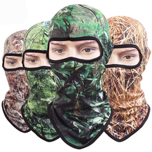 Breathable Quick-dry CS Tree Jungle Camouflage Bionic Balaclava Tactical Military Army Bicycle Cap Hats Protect Full Face Mask