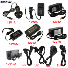 12V Power Adapter Supply LED Driver AC110V 240V to DC12V Transformer lighting Adapter 1A 2A 3A 5A 6A 7A 10A Volt LED Strip Lamp