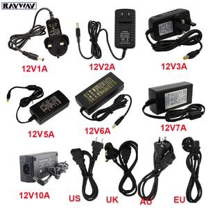 Image 1 - 12V Power Adapter Supply LED Driver AC110V 240V to DC12V Transformer lighting Adapter 1A 2A 3A 5A 6A 7A 10A Volt LED Strip Lamp