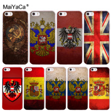 MaiYaCa Spain flag Russia federation flag Painted Style Design Phone Case for Apple iPhone 8 7 6 6S Plus X 5 5S SE 5C 4 4S Cover us national flag style protective epoxy back case for iphone 5 5s red blue