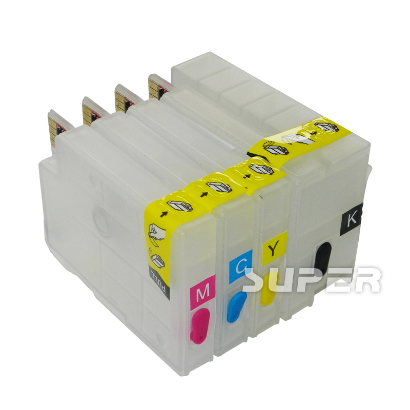 For HP711 refillable Ink cartridges for HP printer T120 T520 with ARC chips free shipping on high quality