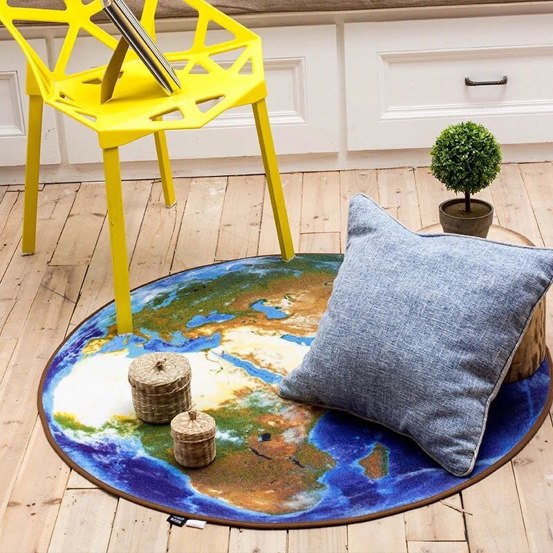 3d earth round carpet map printing mat for living room world map 3d earth round carpet map printing mat for living room world map printed mat kid rug for boy bedroom chair computer sofa carpet in carpet from home garden gumiabroncs Gallery