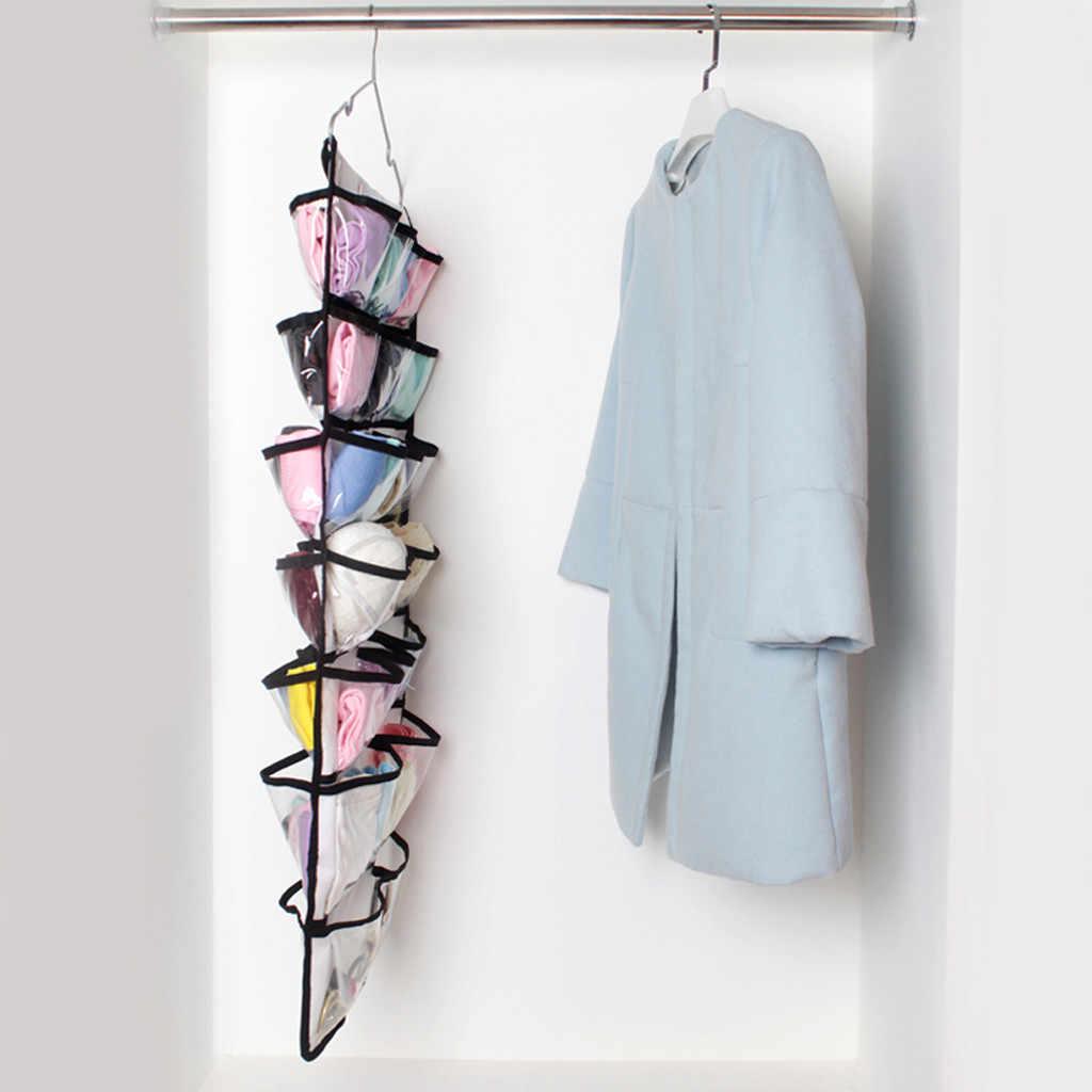 42 แขวน Dual-Sided แขวน Closet Organizer เก็บลิ้นชักจัดเก็บเสื้อผ้า
