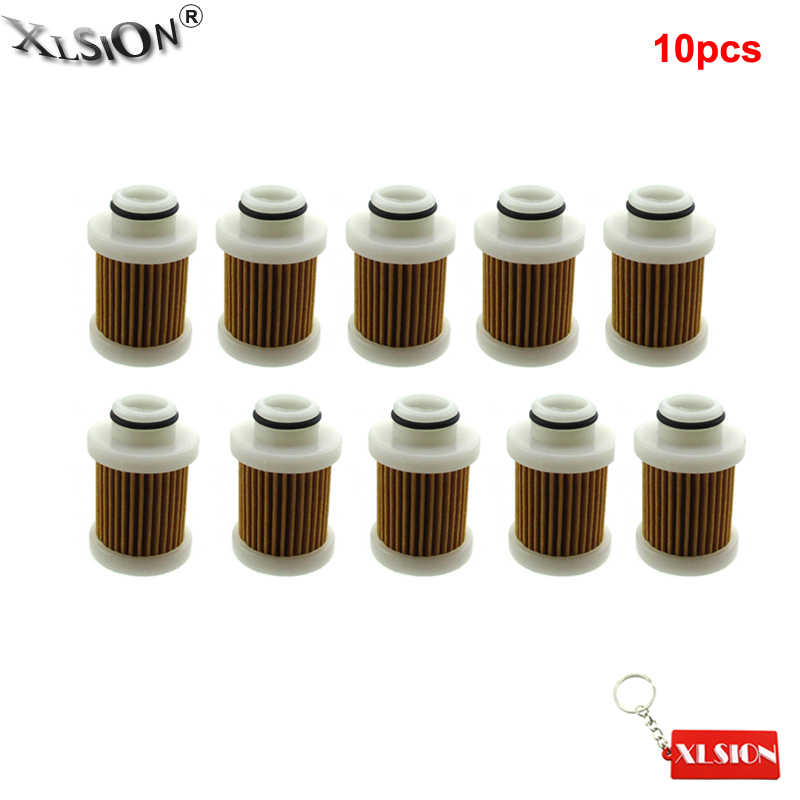 XLSION Aftermarket 10Pcs Fuel Filter For Yamaha F70 F75 F90 T50 T60 6D8 24563 00 00