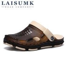 2019 LAISUMK Summer Shoes Men Sandals Brand Slippers Beach  Outdoor Slip On Mens Free Shipping