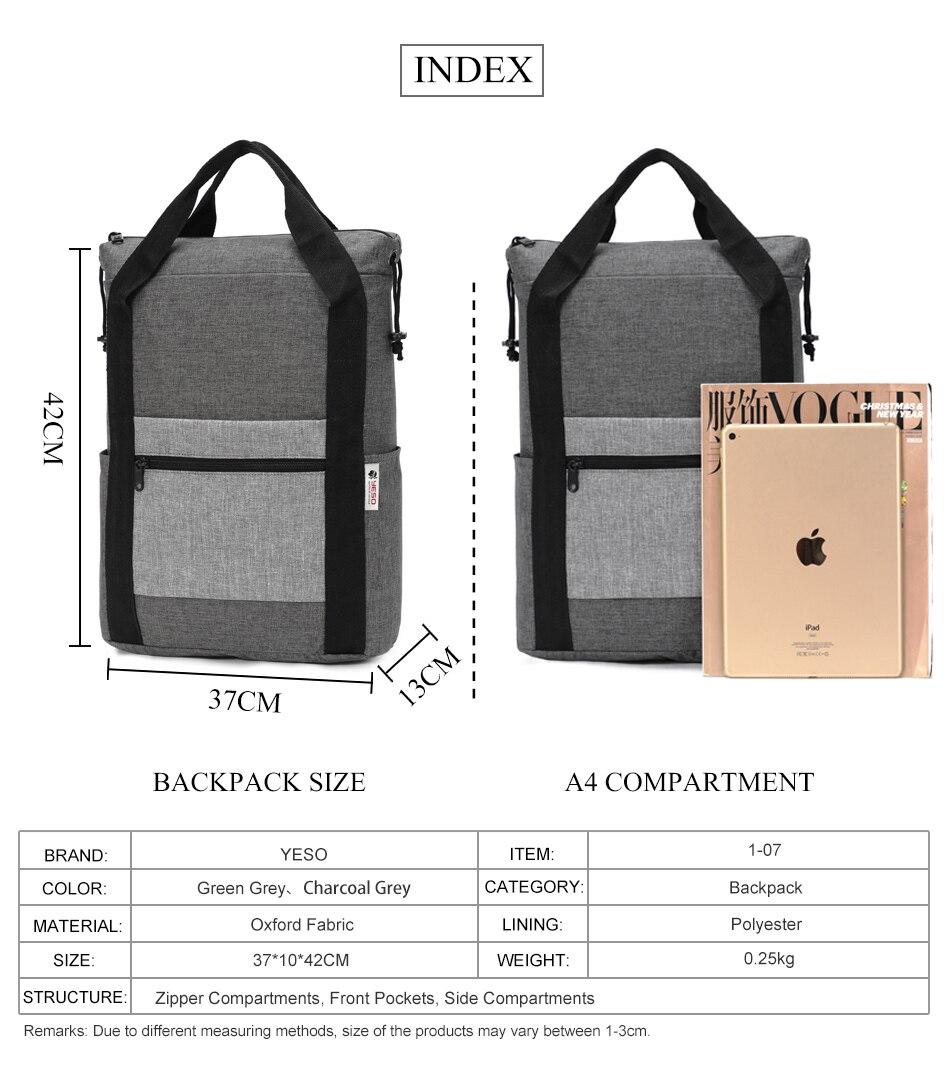 668b2c623177 YESO Casual Folding Backpacks Durable Lightweight Packable Backpack For Men  Water Resistant Travel Backpacks For Women Grey 1Backpack 2bag 3Folding Bag  ...