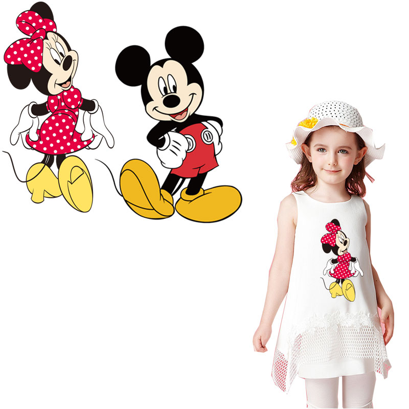 mouse minnie iron on patches for clothing cartoon stickers clothes transfert thermocollants t-shirt child patch diy applique