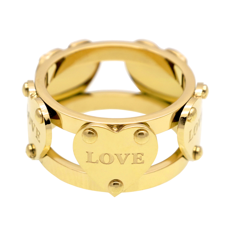 Hot Sale Fashion Luxury Famous Brand Love Ring New Female Rings Gold Color Five Peach Heart