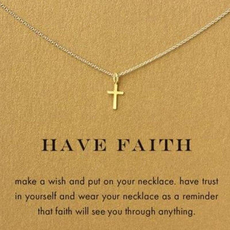 Cross Pendant Gold Cross Necklace Yellow Gold Cross