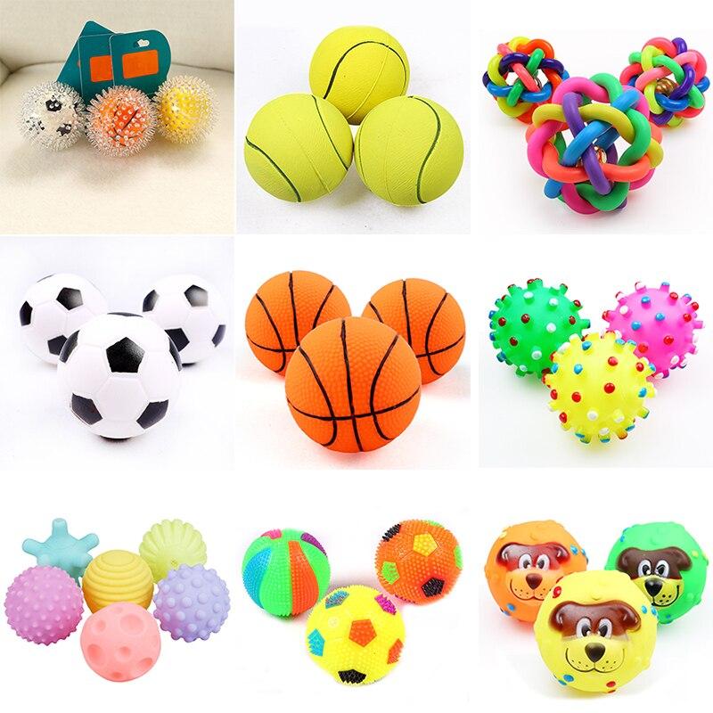 1 шт. Диаметр 6 см скрипучий мяч для комнатной Собаки Игрушки для маленьких собак из резины для жевания щенками игрушка собаке, игрушки для домашних животных brinquedo cachorro-0