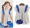 Girls Clothes Dresses Summer Cotton Kids Dress Girls raindrop Pattern Toddler Girl Dresses 0421 sylvia 530522030175