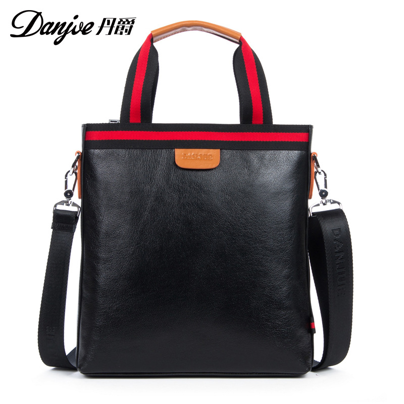 DANJUE New Arrival Horizontal Classic Crossbody Bag Trendy Business Bag For Man Messenger Bag Genuine Leather Male Shoulder Bag