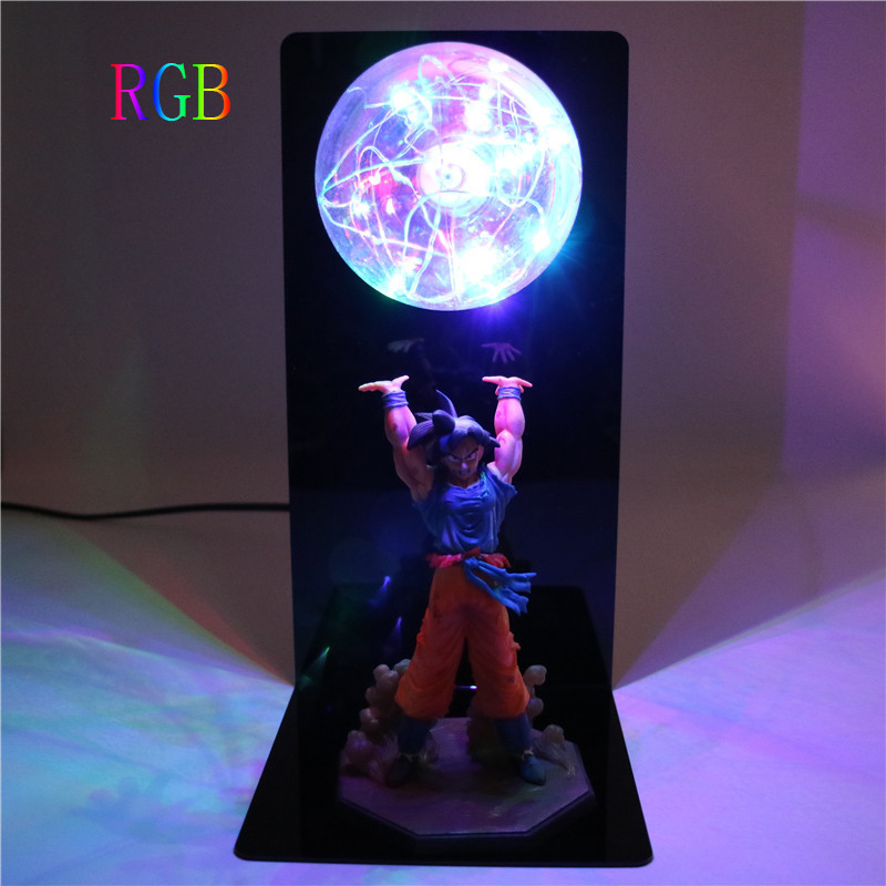 Dragon Ball Z Luminaria Son Goku Strength bombs Lamp DBZ Super Saiyan Figures Night Light Children Kids Baby Bedroom Table Lamp(China)