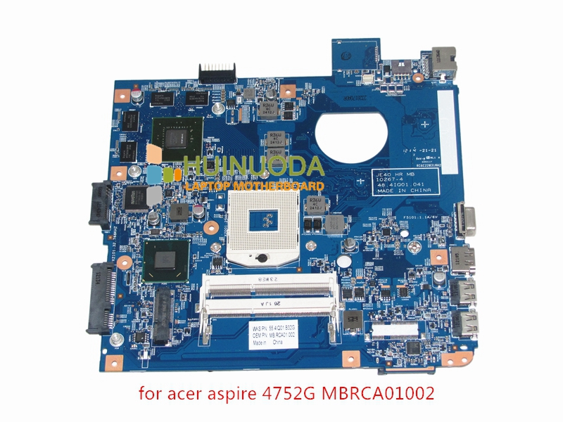MB.RCA01.002 Laptop Motherboard For acer aspire 4752G Intel HM65 Nvidia GT540M MBRCA01002 JE40 HR 10267-4 48.4IQ01.041 Mainboard