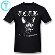 Acab T Shirt Cartoon Print ACAB T-Shirt 100 Percent Cotton 5x Tee Shirt Man Funny Casual Short-Sleeve Printed Streetwear Tshirt рюкзак anteater rolltop acab