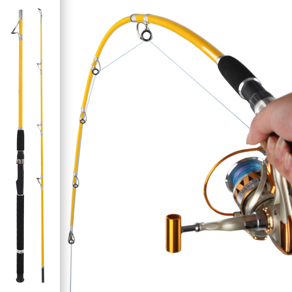 Tiro Try 1.8m 2.1m Boat Fishing Rod 2 Sections Seafishing Pole Super Strong Glass Fiber Jig Spinning Fishing Rods
