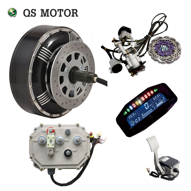 Qsmotor 4000w 273 40h V3 Bldc Brushless Electric Car Hub Motor Hybrid Conversion Kits With Kelly