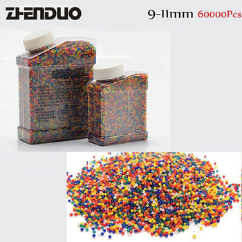 ZhenDuo Toys 9-11mm 20000Pcs/Bottle Crystal Paintball Water Bullet For Gel Ball Gun Accessories цена 2017