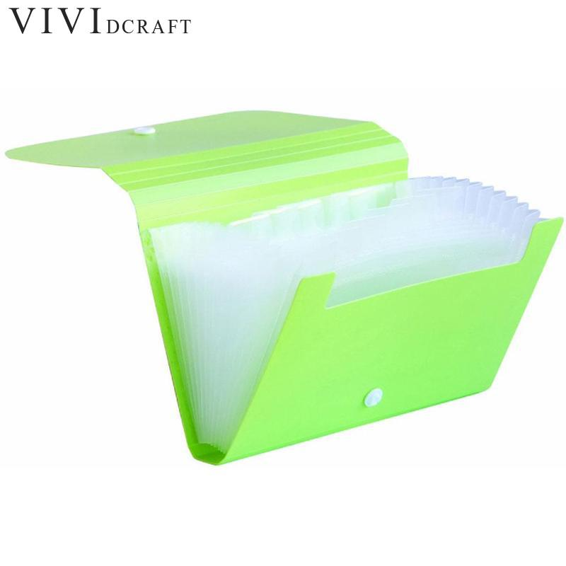 Vividcraft A6 Mini Organ Candy Color Document Bag File Folder Expanding Wallet Bill Folder Small Size Document Bag Office Supply