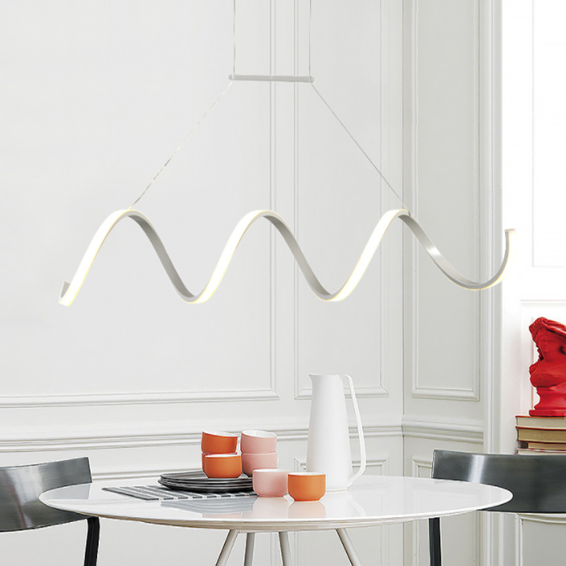 Spiral Pendant Lights Bar Dining room Kitchen Living room Hanging Lights Art Decor Acrylic Lampshade remote controlled lights