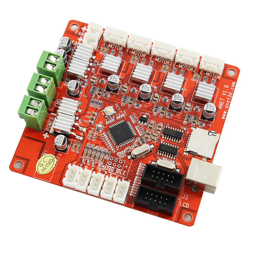 Anet A8 A6 Updated 3D Printer Control Motherboard For Anet V1.0 Printer Control Reprap 3D Printed Mainboard