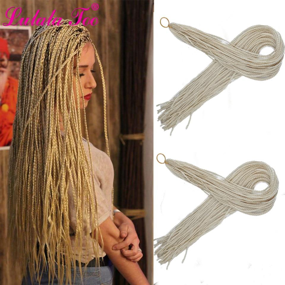 30inch Zizi Braids Crochet Box Braids Micro Synthetic Braiding Hair Extensions 28 Roots/Pack Pink Write Purple Bug Gray 613