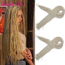 дешево✲  30 дюймов Zizi Braids Вязание крючком Box Косы Микро Синтетические Плетеные Наращивание Волос 28  Лучший!