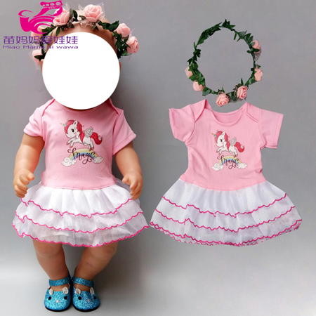 new born 40cm baby Doll clothes pants shirt tutu skirt for 18