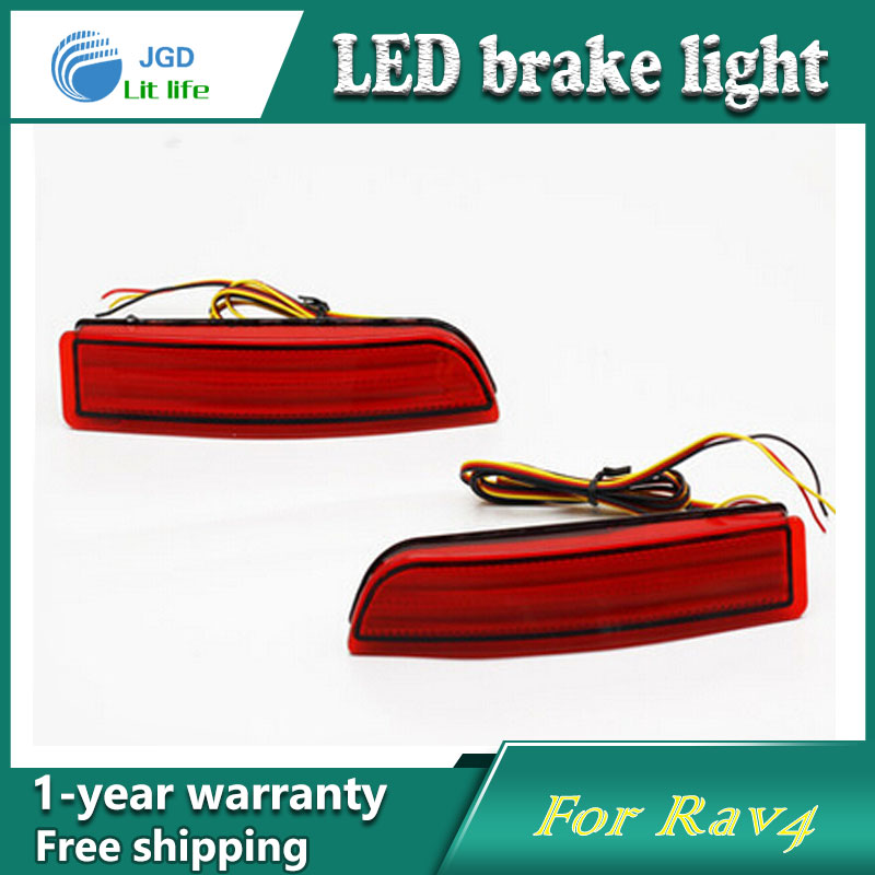 Car Styling Rear Bumper LED Brake Lights Warning Lights case For Toyota RAV4 2009-2013 Accessories Good Quality car styling rear bumper led brake lights warning lights case for mazda atenza accessories good quality