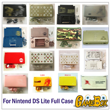 32 цвета полный корпус Чехол Набор для Nintend DS Lite чехол с крышкой в комплекте стилусы с бесплатной отвёртки защитная пленка