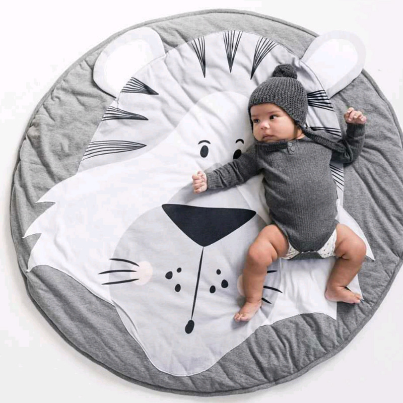 Baby Play Mats Kids Crawling Carpet Rug Round Soft Baby Bedding Blanket Cotton Game Pad Toys