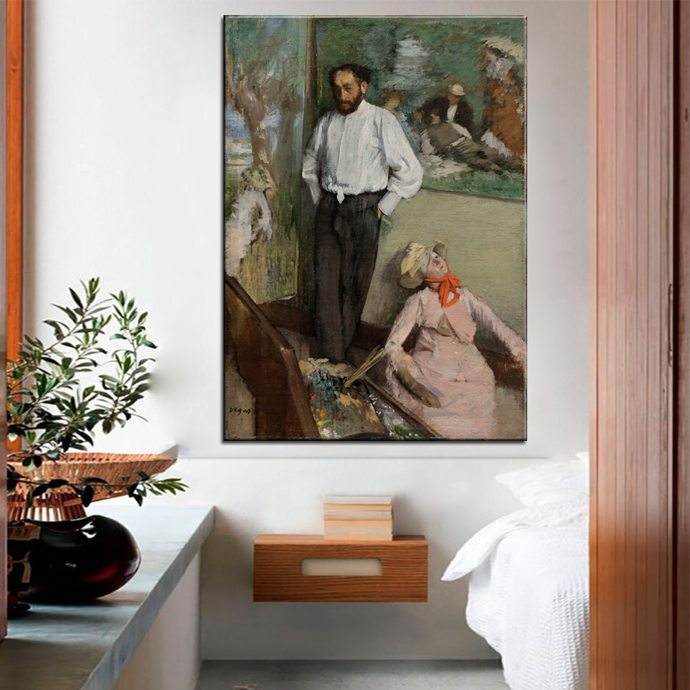 Dp Artisan Portrait Of Henri Michel Levy Wall Painting Print On Canvas For Home Decor Oil