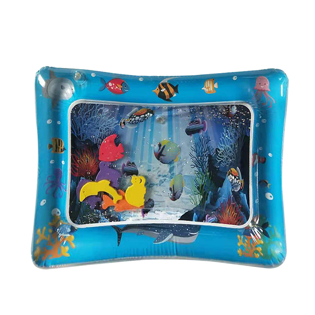Water Pad Inflation Mat Outdoor Party Play Splash Pat Cushion Baby Water Game Toys Thicken PVC Early Development Activity Mat