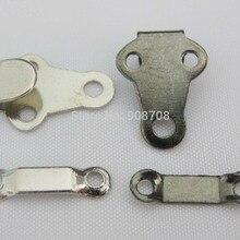 HK001 Крючок для брюк Никель и черный никелированный крючок для Одежда Аксессуары для шитья 50 наборов