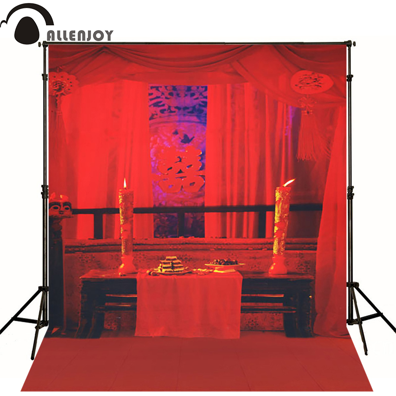 10*20feet(300*600CM) Photography Background Red wedding candles photo backdrop castle Free Shipping