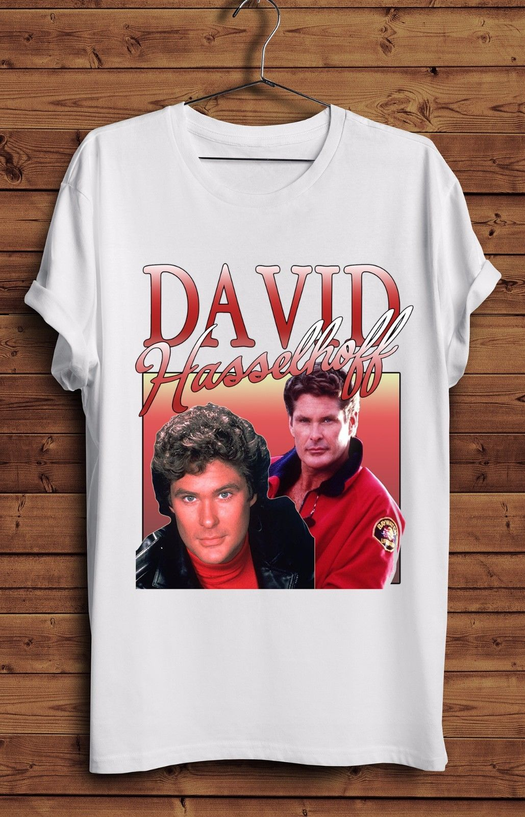 super cute sleek huge inventory US $13.04 13% OFF|David Hasselhoff T Shirt 90s Homage Mich Vintage Knight  Rider Baywatch Night Cotton Men T Shirts Classical Top Tee Plus Size-in ...