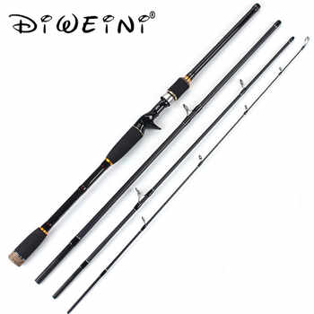 New 1.8M 2.1m 2.4m 2.7m 3.0m 99% Carbon Fiber Spinning Fishing Rods Casting Travel Rod 4 Sections Fast Action Fishing Lure Rod