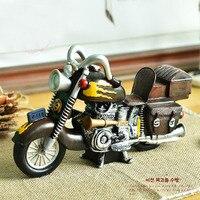 Criativo retro Decoração de Ferro da motocicleta motor bicicleta Artesanato presente namorado menino Figurinhas & Miniaturas FG495 presente atacado